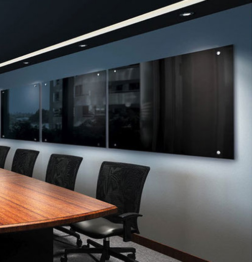 black glass whiteboard whiteboards and pinboards. Black Bedroom Furniture Sets. Home Design Ideas