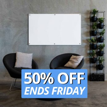 Glass Whiteboard 50% Off Feature Image