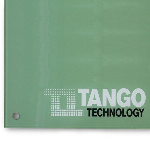 logo printed glass board