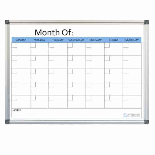 Month Planner Whiteboard
