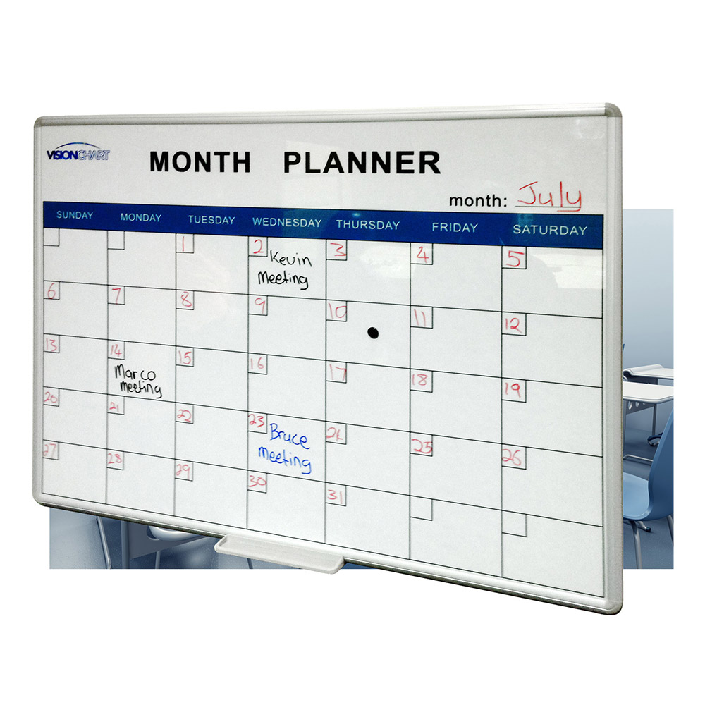 Deluxe perpetual month planner whiteboard magnetic for For planner