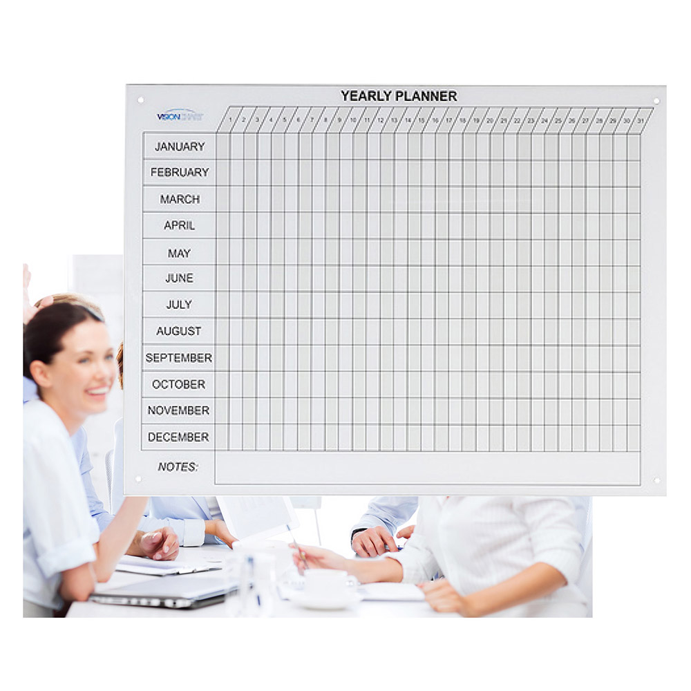 Glass Whiteboard Year Planner