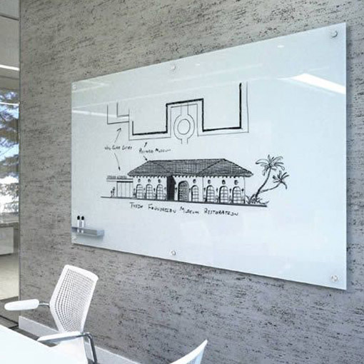 White Frameless Glass Whiteboard Whiteboards And Pinboards