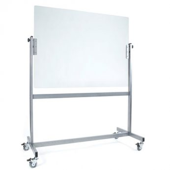 Sana Mobile Glass Whiteboard – White