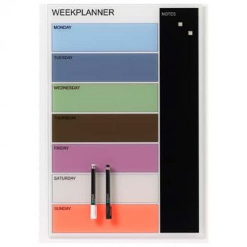 Coloured Magnetic Glass Planner