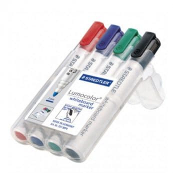 Staedtler 351 Whiteboard Markers Bullet Tip Assorted