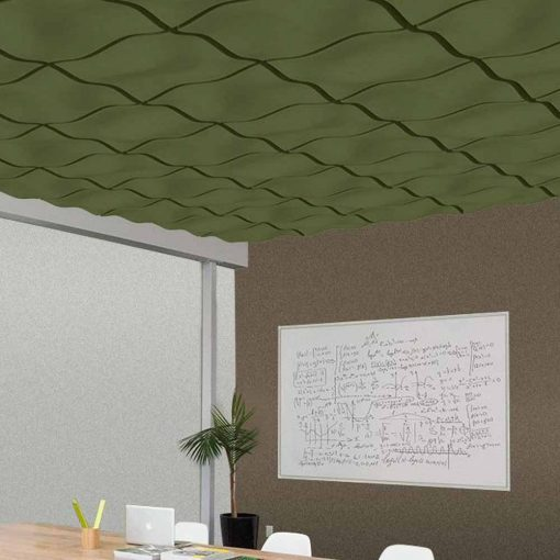 3D Ceiling Wave Avocado