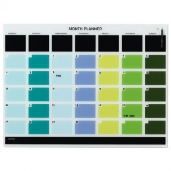 Naga Coloured Monthly Planner 1200 x 900
