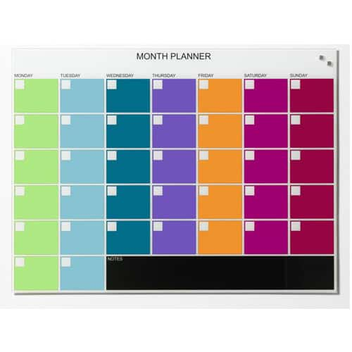 Naga Coloured Monthly Planner 800 x 600