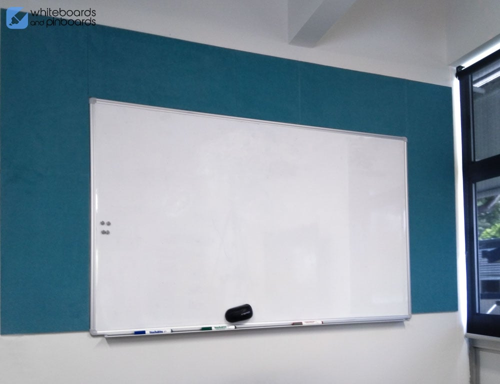 Peel 'n' Stick Tiles and Standard Commercial Whiteboard
